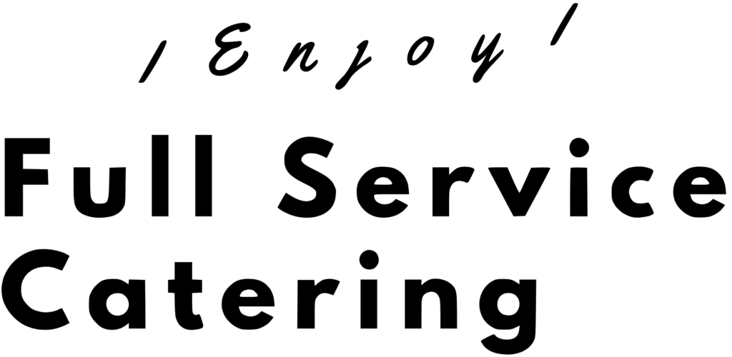 Full service catering text